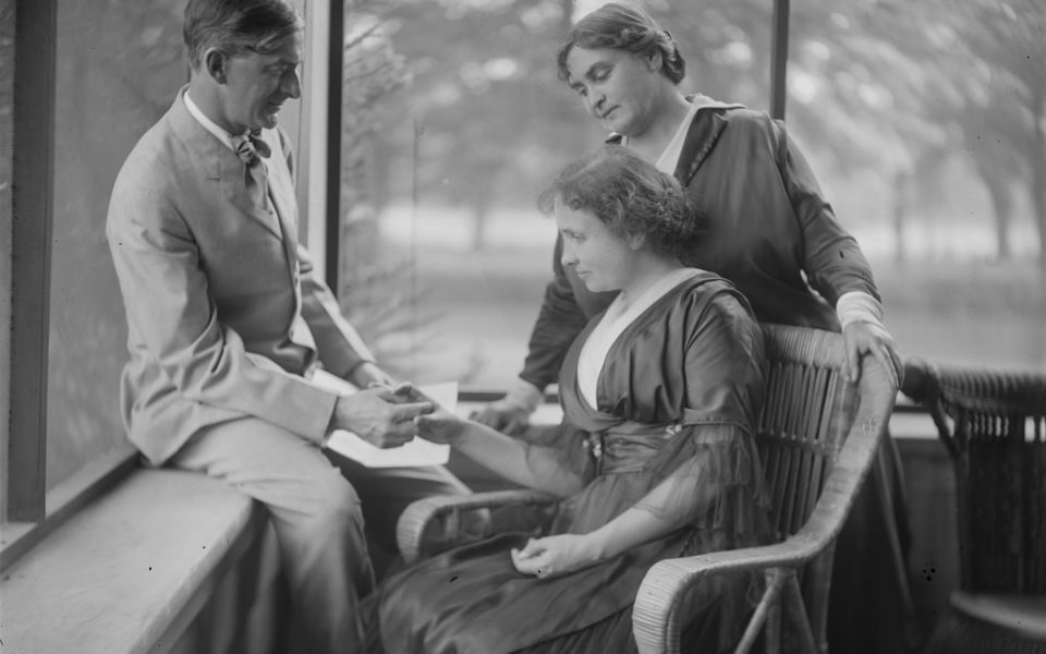 Helen Keller, Anne Sullivan at Harvard