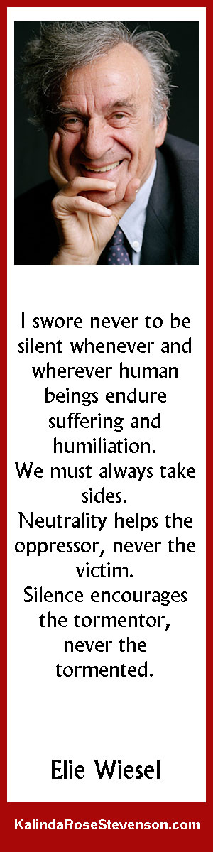 Elie Wiesel Quote on Silence