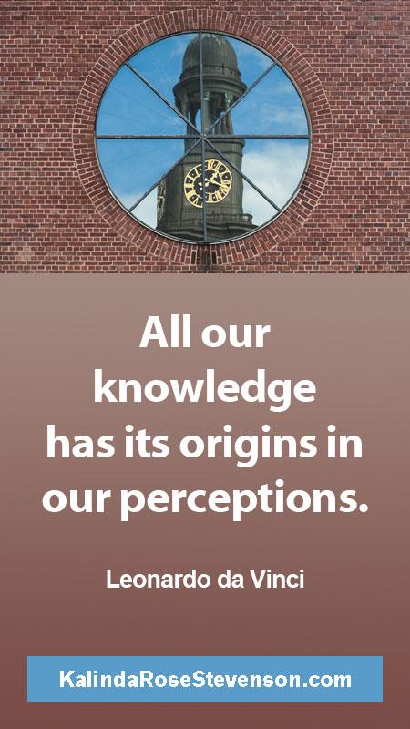 Leonardo da Vinci Quote on Perceptions
