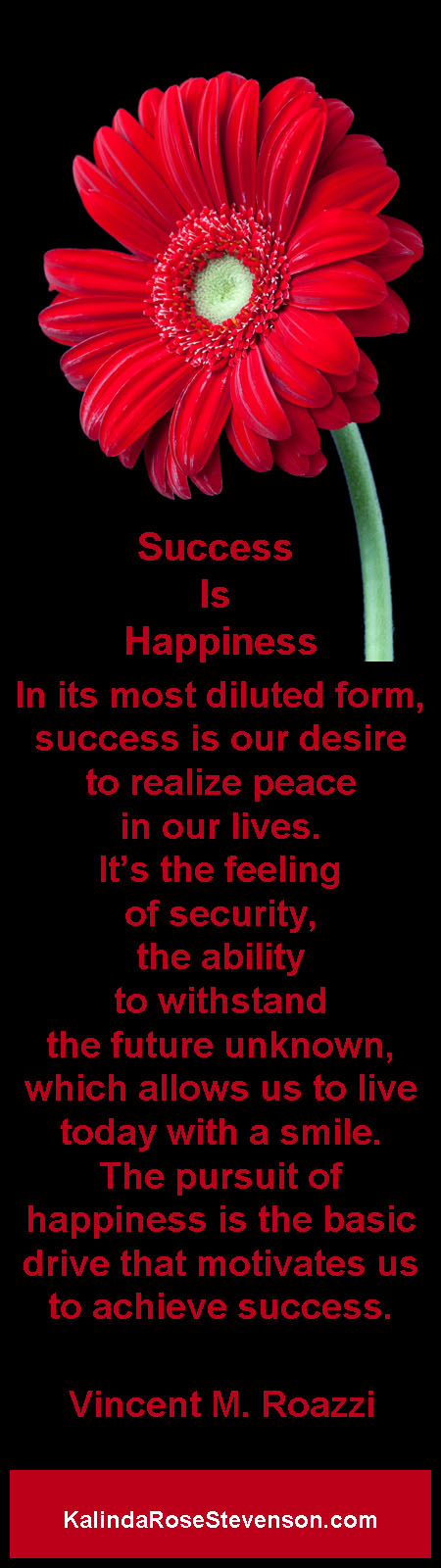 Vincent Roazzi Quote Success is Happiness