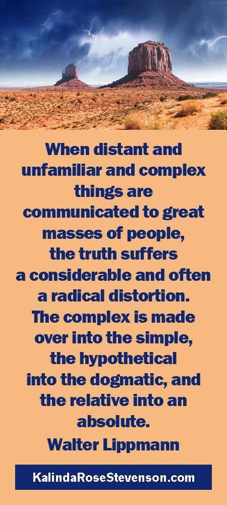 Walter Lippmann Quote on Truth